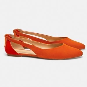 🍊🆕🔥Zara Ballet Flats with cut outs 🔥